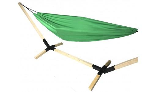 Hamak ogrodowy 230/160 + pokrowiec + poduszka + mocowanie (zelony)