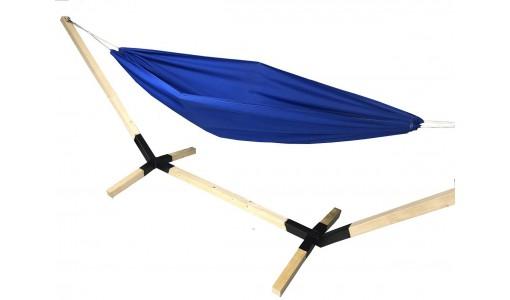 Hamak ogrodowy 230/160 + pokrowiec + poduszka + mocowanie (niebieski)
