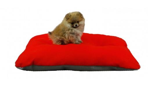 Legowisko dla psa poduszka 45 X 55 (czerwone)