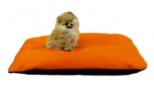 Legowisko dla psa poduszka 130 X 100 (pomarańczowe)